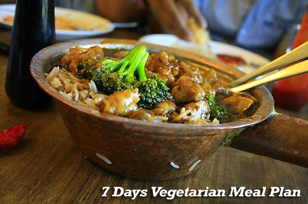 7 Days Vegetarian Meal Plan
