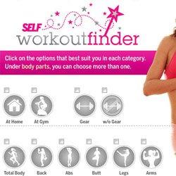 Self Workout Finder