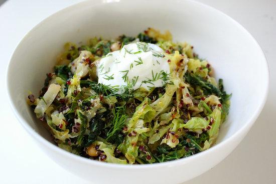 Toasted Quinoa Savoy Cabbage
