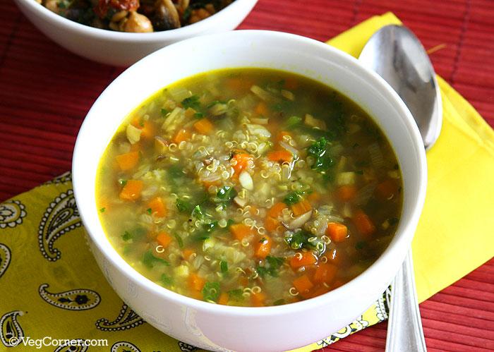 Flu-Fighting Quinoa Garlic Soup