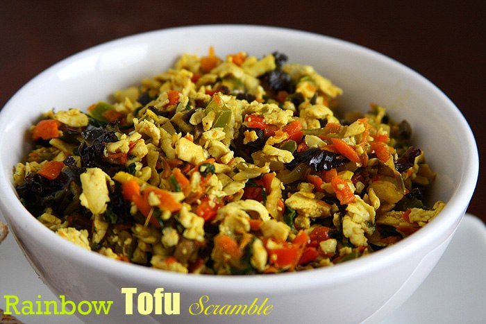 rainbow tofu scramble